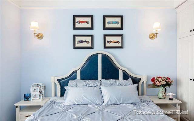 现代美式风格装修效果图之睡床