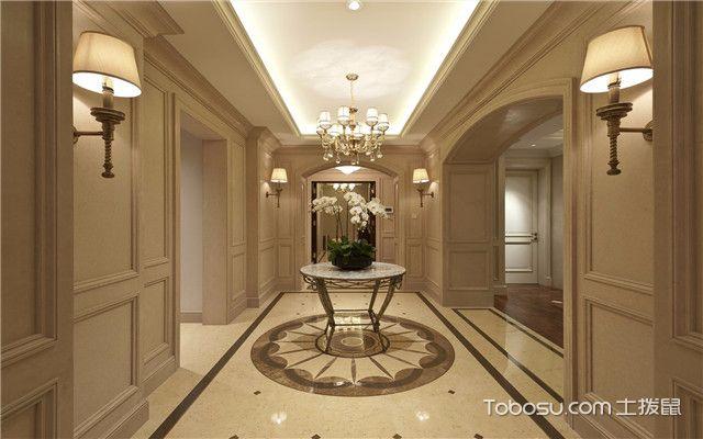 合肥380平欧式风格别墅装修案例之门厅