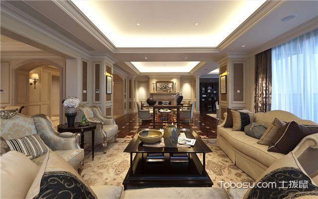 合肥380平欧式风格别墅装修案例之客厅