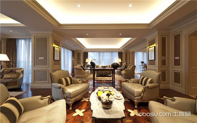 合肥380平欧式风格别墅装修案例