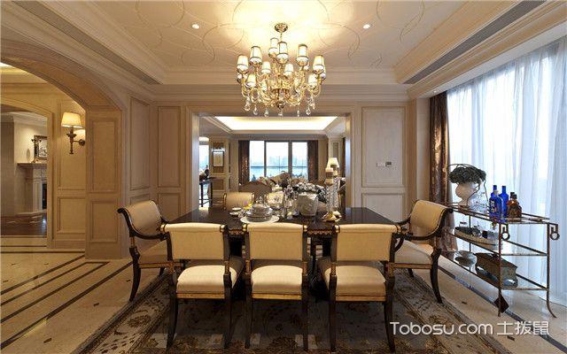 合肥380平欧式风格别墅装修案例之餐桌