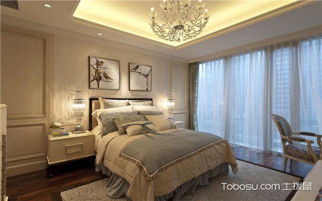 合肥380平欧式风格别墅装修案例之次卧