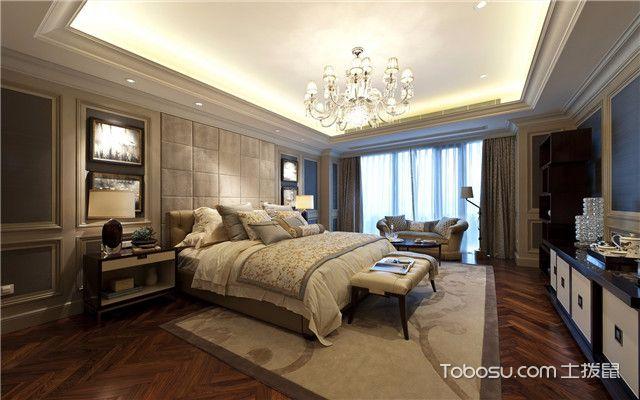 合肥380平欧式风格别墅装修案例之主卧
