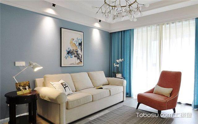 美式风格公寓装修案例之客厅