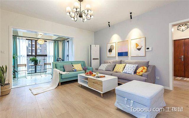 110平米北欧风格三居室装修设计之客厅