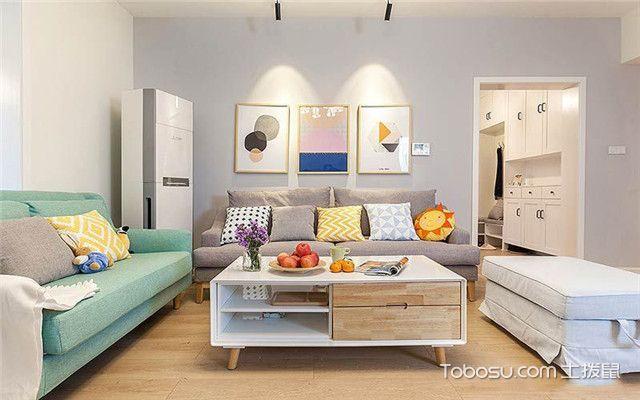 110平米北欧风格三居室装修设计之沙发