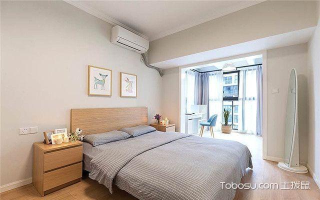 110平米北欧风格三居室装修设计之主卧