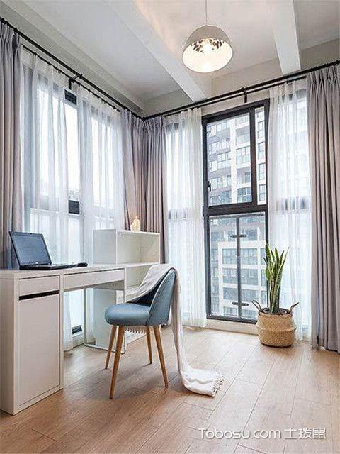 110平米北欧风格三居室装修设计之书房