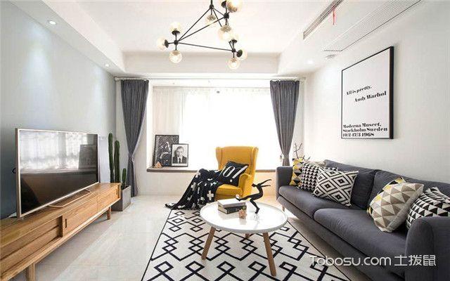 北欧风格装修案例之客厅色彩