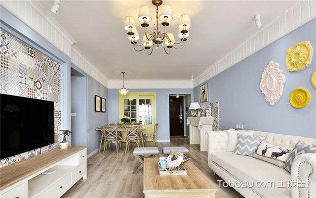 100平现代美式风格案例之客厅