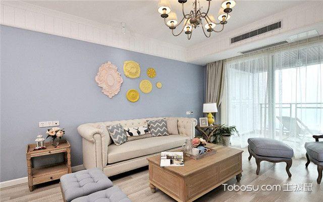 100平现代美式风格案例之沙发墙