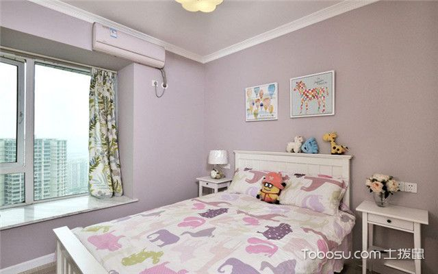 100平现代美式风格案例之儿童房