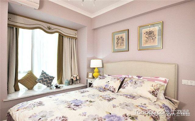 100平现代美式风格案例之床头背景墙