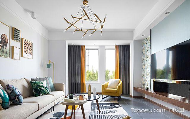 北欧风格四室两厅装修案例—客厅2