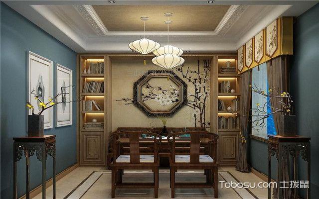 中式书房怎么装修之壁纸挑选