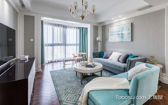 简美风格装修案例—客厅
