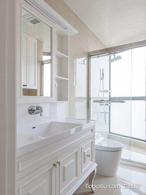 简美风格装修案例—卫生间