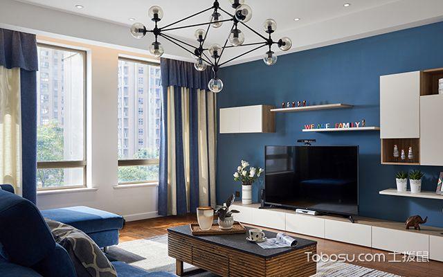 四室两厅简约装修案例—客厅