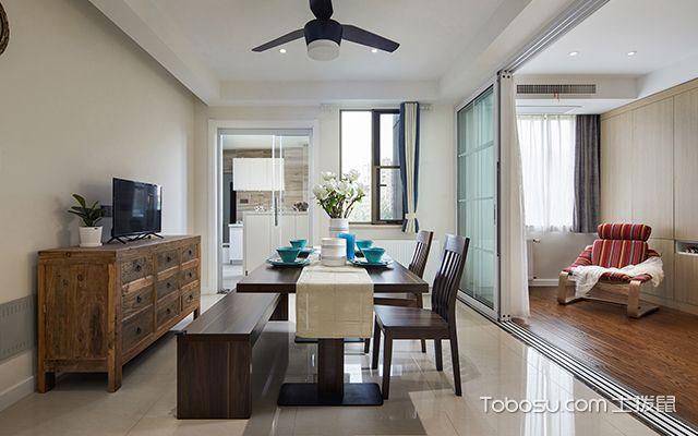 四室两厅简约装修案例—餐厅