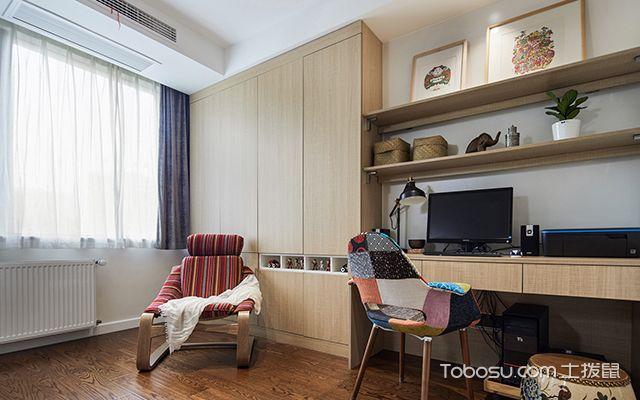 四室两厅简约装修案例—书房