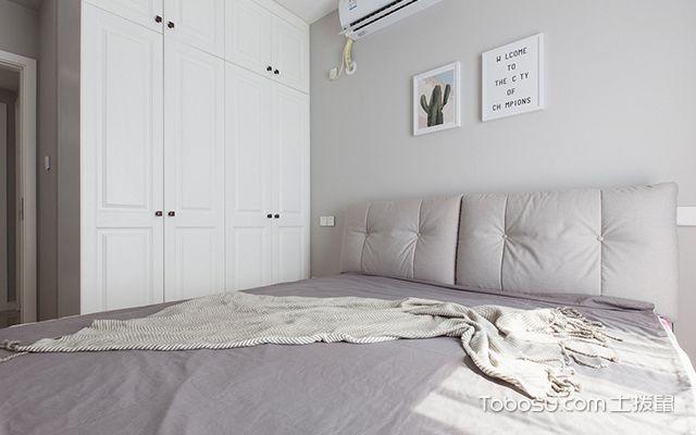 89平三室两厅装修案例—次卧