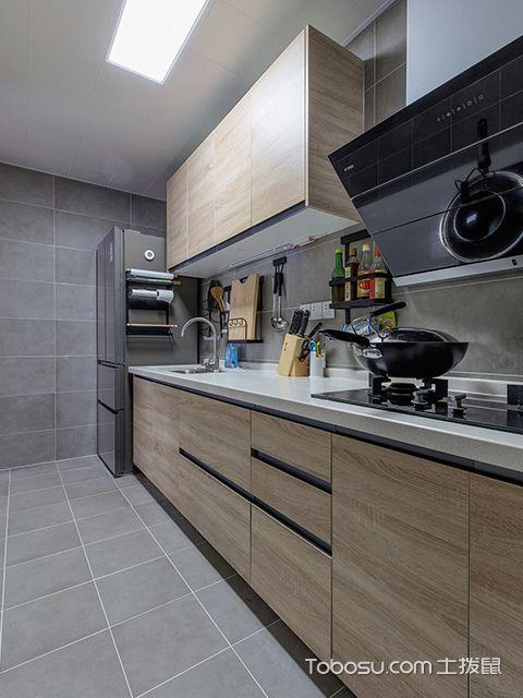 89平三室两厅装修案例—厨房