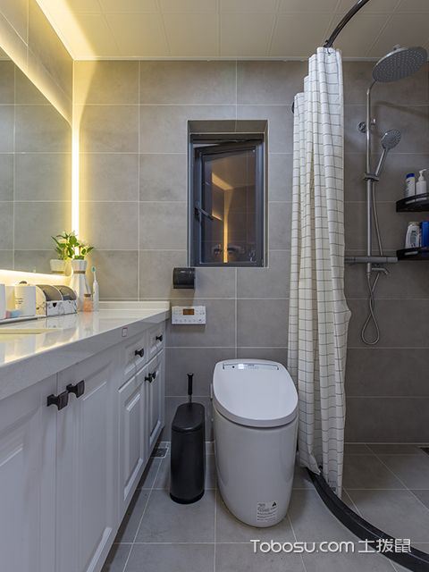 89平三室两厅装修案例—卫生间