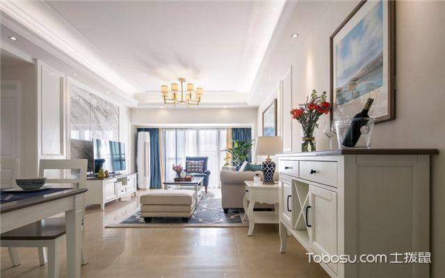 140平美式风格四居室装修案例之吊灯