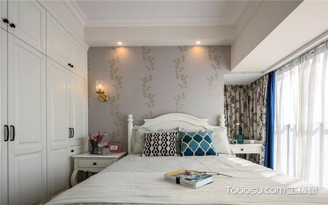 140平美式风格四居室装修案例之主卧