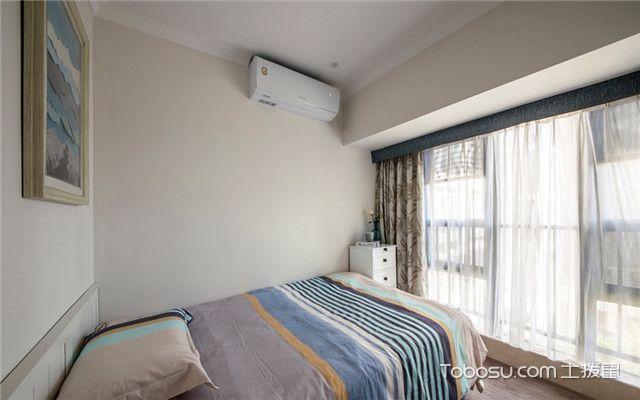 140平美式风格四居室装修案例之次卧