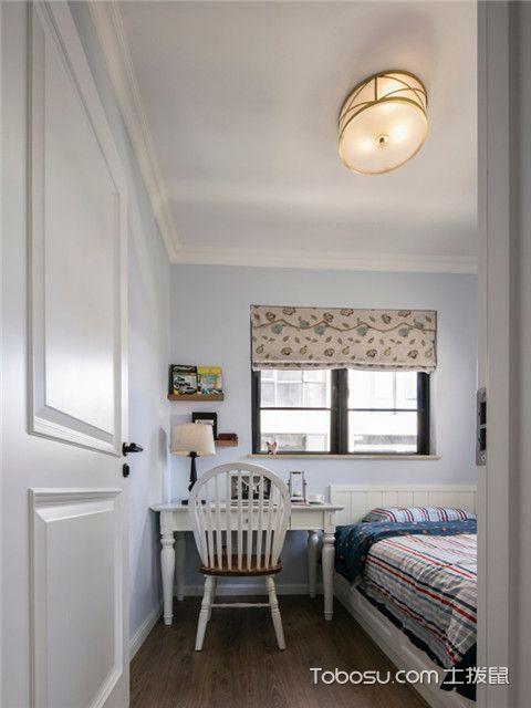 140平美式风格四居室装修案例之男孩房