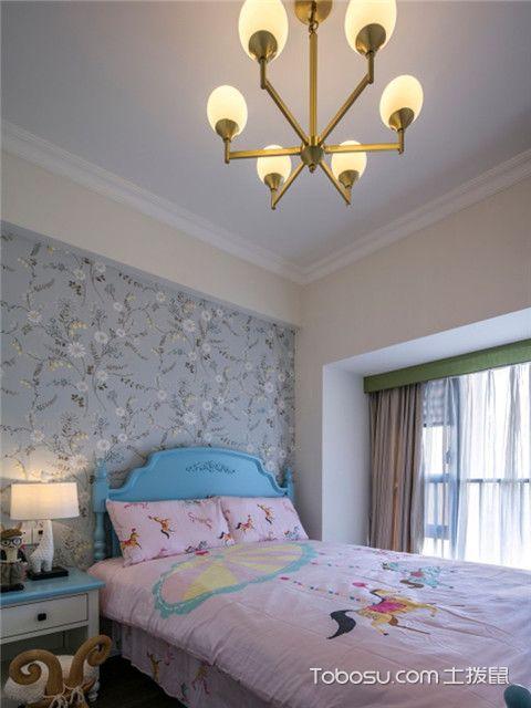 140平美式风格四居室装修案例之女孩房
