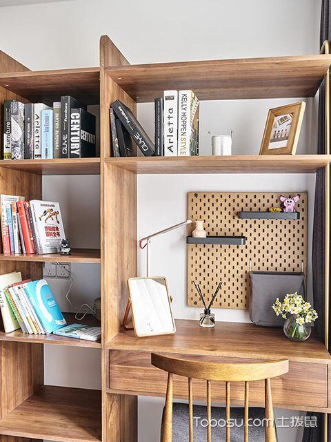 90平日式风格案例—主卧书柜