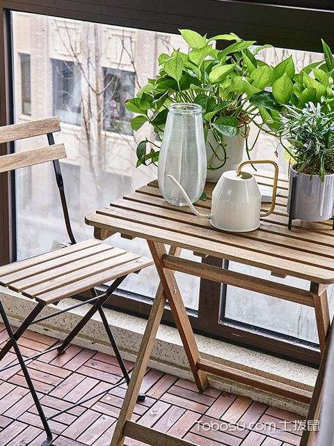 90平日式风格案例—阳台