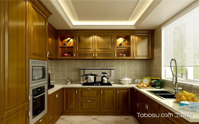厨房墙面装修效果图之古朴典雅