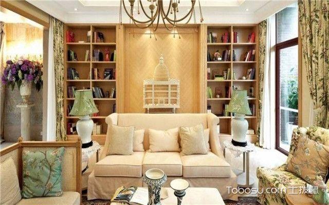 客厅背景墙怎么装才好看之书柜收纳式背景墙
