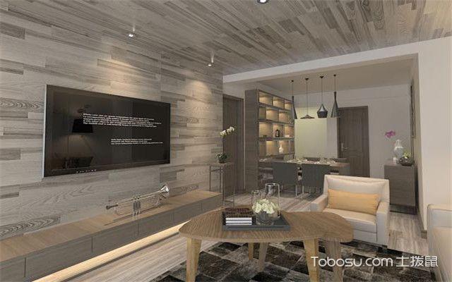 客厅背景墙怎么装才好看之木地板上墙设计