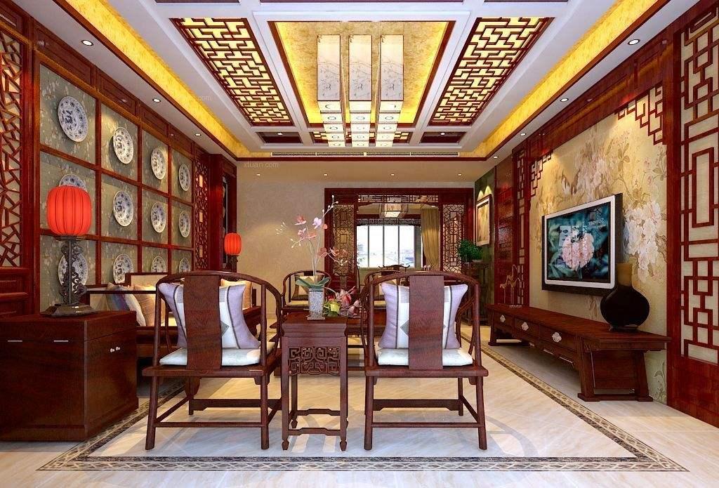 沉穩新中式風格設計,家裝新中式風格裝修