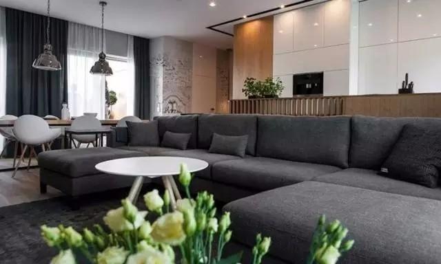 160平现代风格公寓,原木家居的魔力
