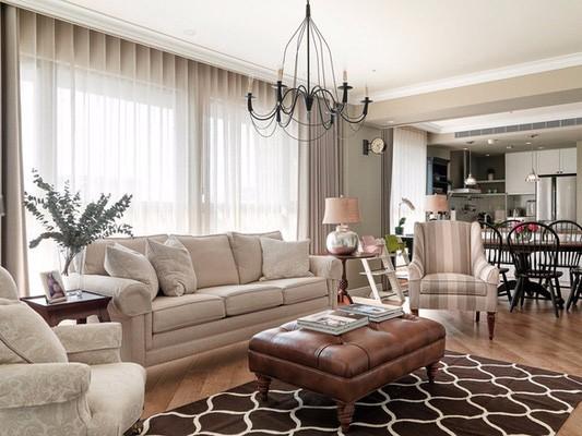 美式三居室装修,三口之家的温馨