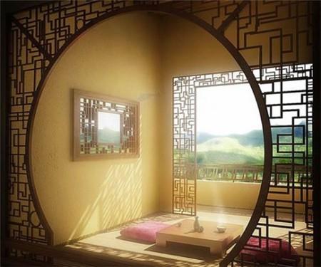 复古中式窗棂让时光静静流淌在温暖小窝
