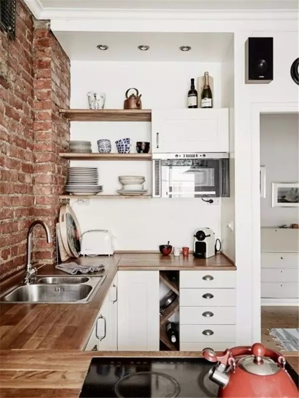 再小的房子也能拥有好看又实用的厨房
