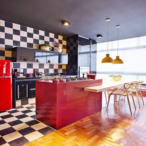 小户型厨房的设计,色彩搭配也很重要