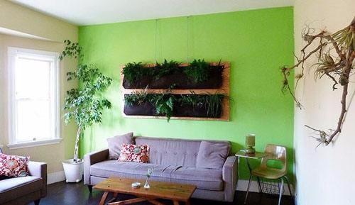 植物背景墙图片,用绿色装点温馨的家