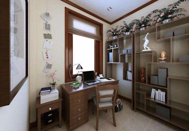 书房设计理念,简约理念决定宁静的书房装修