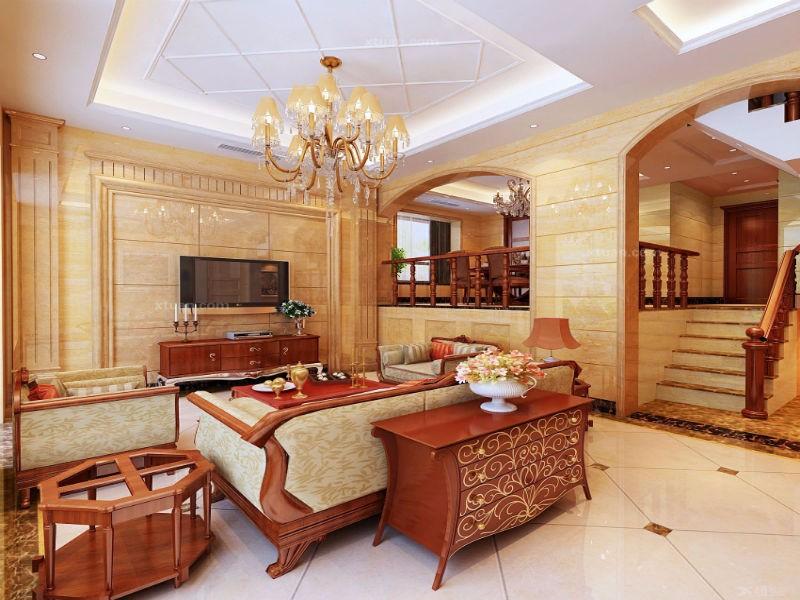 纯欧式客厅装修效果图,尽情诠释欧式之美