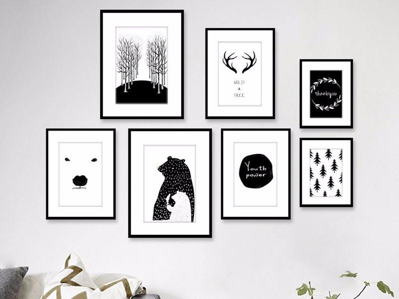 创意黑白装饰画图片:黑白碰撞精彩家居生活