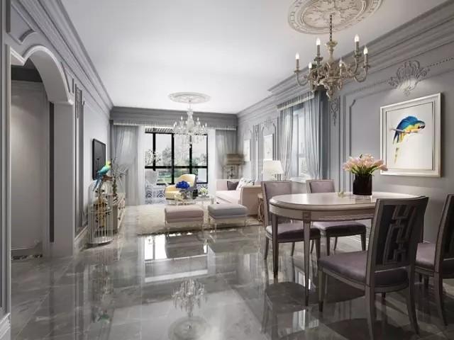 123平米优雅法式风格,感受轻松自在的居家空间