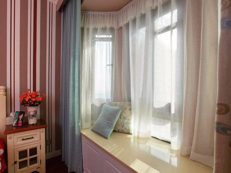 浪漫的飘窗,得这样选窗帘!