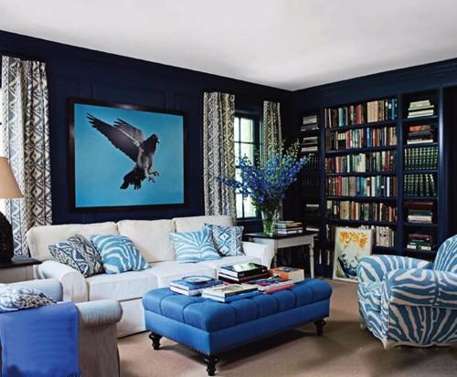 深蓝色配什么色好看 室内墙面如何搭配颜色